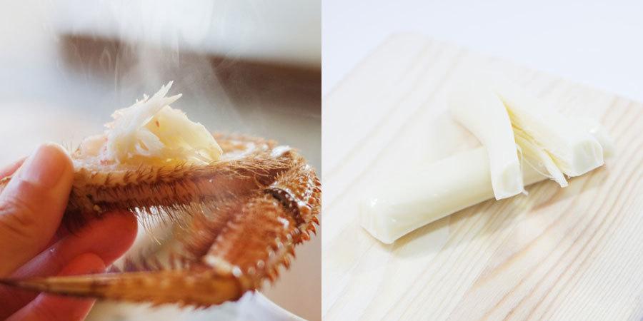 毛ガニ さけるチーズ