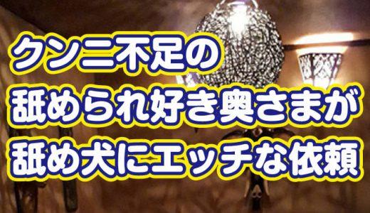 クンニ不足の舐められ好き奥さまが舐め犬にエッチな依頼@仙台市・立町