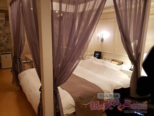 ホテルルナ お姫様ベッド