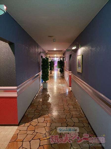 ホテル24℃の廊下