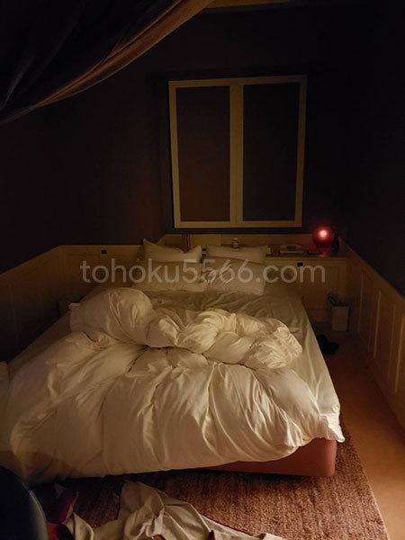 ホテルアンジュ ベッド使用後
